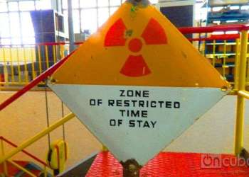 Warning sign in the only Cuban nuclear reactor, located in the INSTEC / Photo: Marita Pérez Díaz
