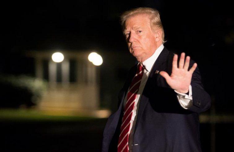 Donald Trump yesterday in Washington DC. Photo: Shawn Thew.