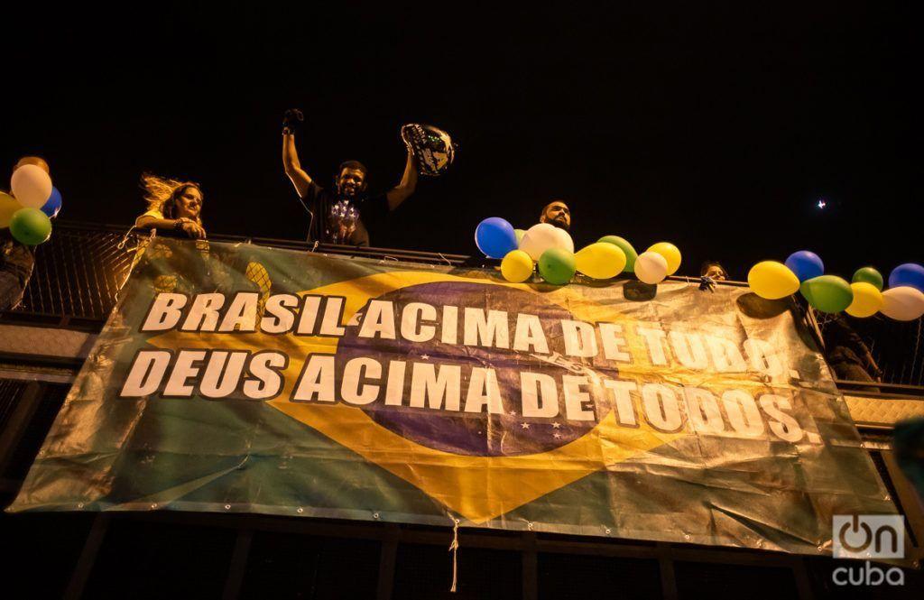 """Brazil above everyone. God above all."" Photo: Nicolás Cabrera."