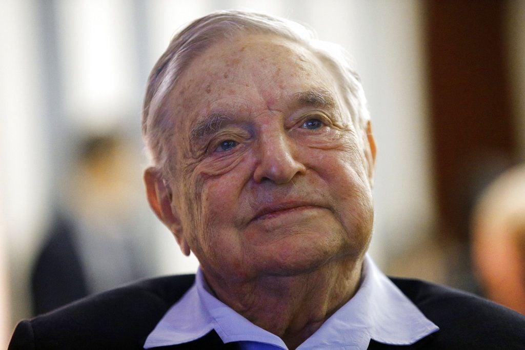 Multimillionaire philanthropist George Soros in an event in Paris, May 2018. Photo: François Mori / AP.