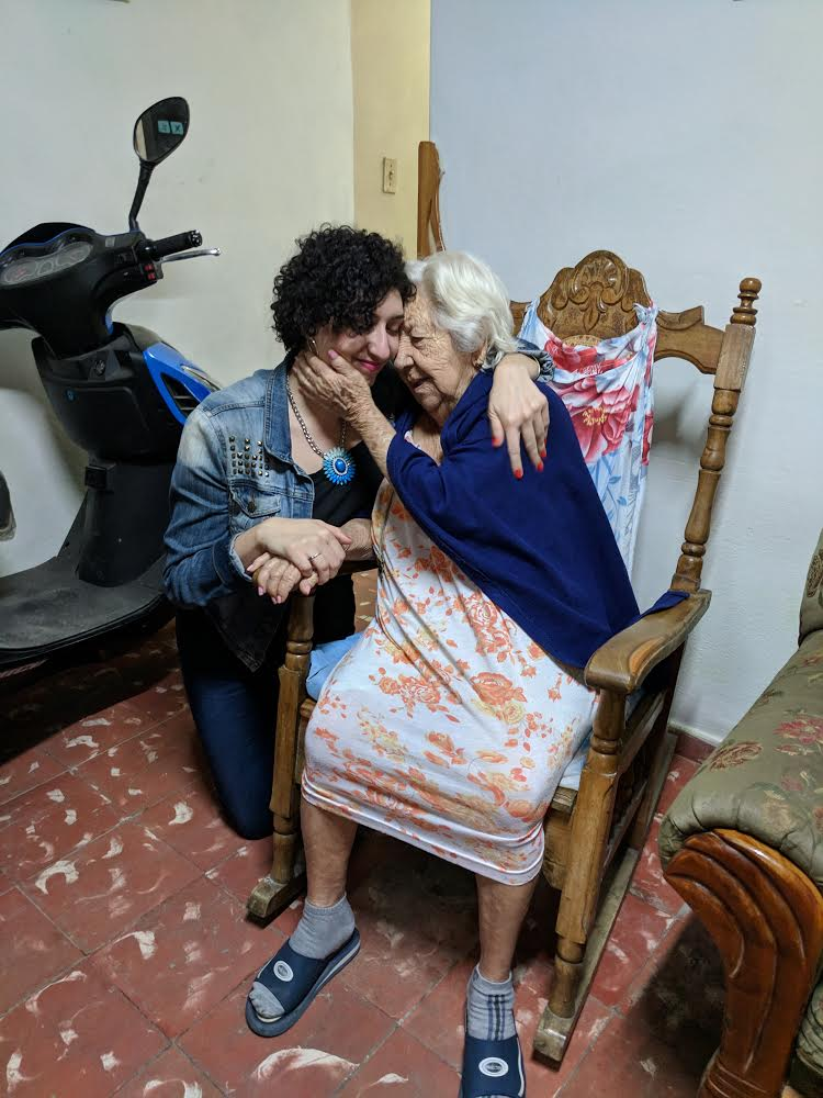 Elizabeth Estrada, a participant in the Unidas trip with her Cuban great-aunt. Photo: Courtesy of CubaOne.