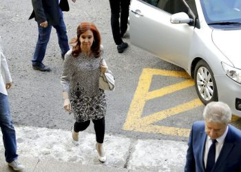 Former Argentinean President Cristina Fernandez entering a court in Buenos Aires, Argentina, on Monday, February 25, 2019. (AP Photo / Natacha Pisarenko)