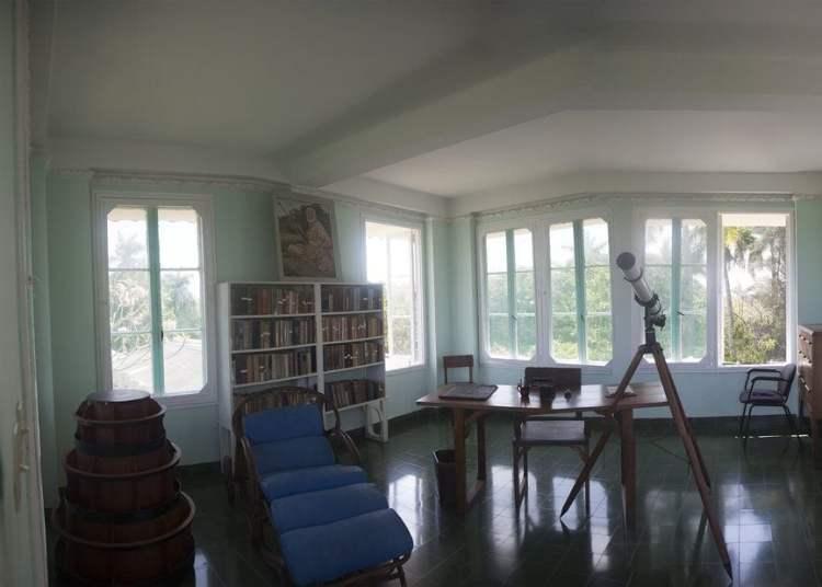 Interior of Hemingway's house in Finca Vigía. Photo: Courtesy of Hugo Fernández.