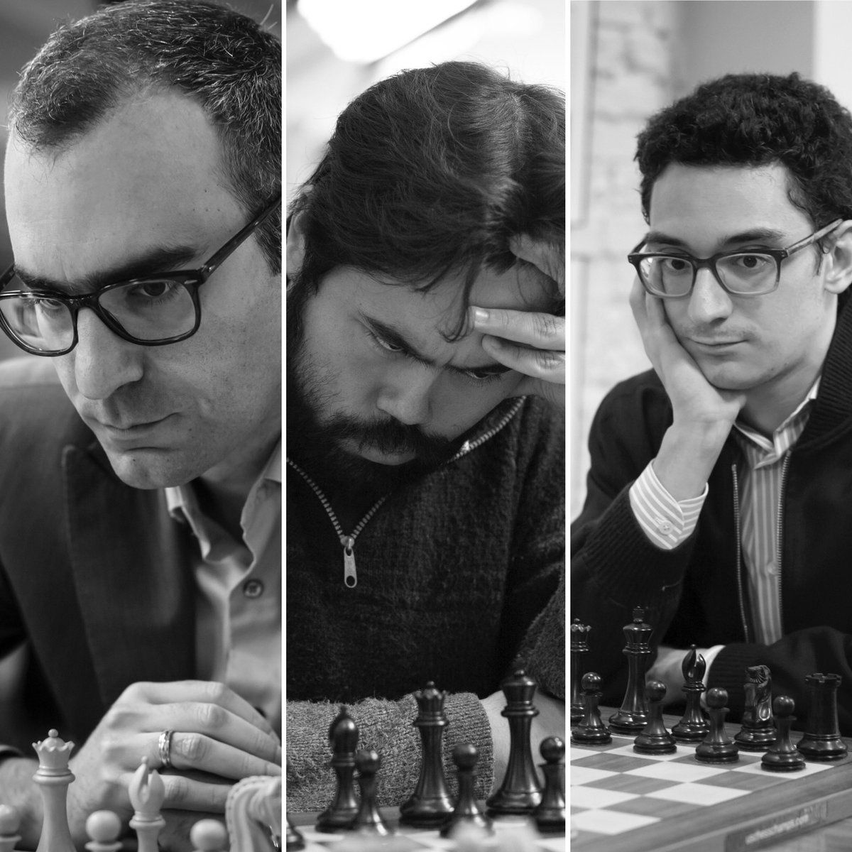 The final duel between Leinier, Nakamura and Caruana left the Japanese as the winner. Photo: Saint Louis Chess Club.