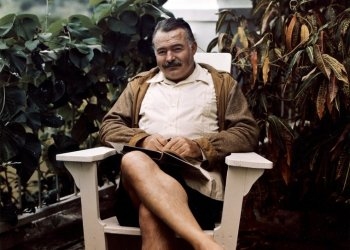 Hemingway at Finca Vigía, circa 1947. Photo: Ernest Hemingway Collection / John F. Kennedy Presidential Library and Museum, Boston.