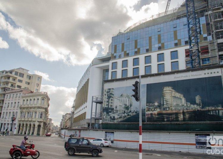 Hotel Prado y Malecón, under construction in Havana. Photo: Kaloian