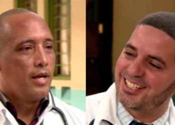 Cuban doctors Assel Herrera (left) and Landy Rodríguez (right), kidnapped on April 12 in Kenya, allegedly by militants of the Al-Shabaab extremist group. Photo: Edited screenshot.