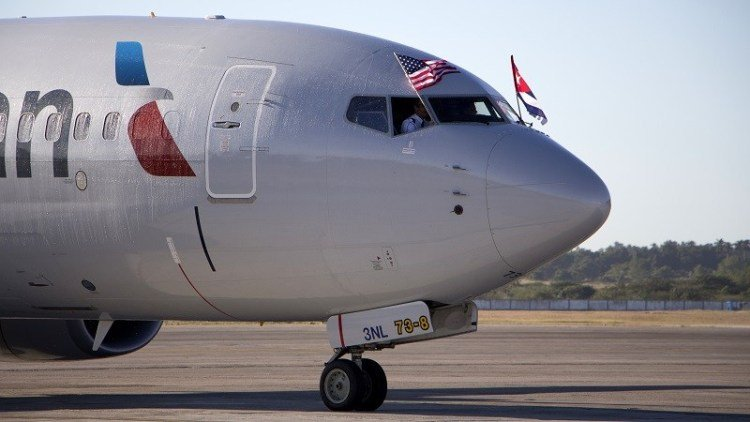 In November 2016, American Airlines inaugurated its regular commercial flight at José Martí International Airport. Photo: EFE