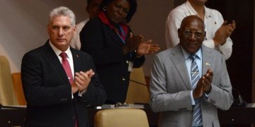 Miguel Díaz-Canel (left) and Salvador Valdés Mesa (right) were confirmed as President and Vice President of Cuba by the National Assembly, on October 10, 2019. Photo: ACN