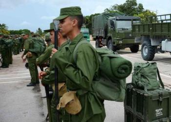 Young Cubans in military service. Photo: TV Yumurí / Archive.