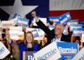 Democratic presidential candidate Senator Bernie Sanders, from Vermont, and his wife Jane, during a campaign event in San Antonio, Texas, on Saturday, February 22, 2020. (AP Photo/Eric Gay)
