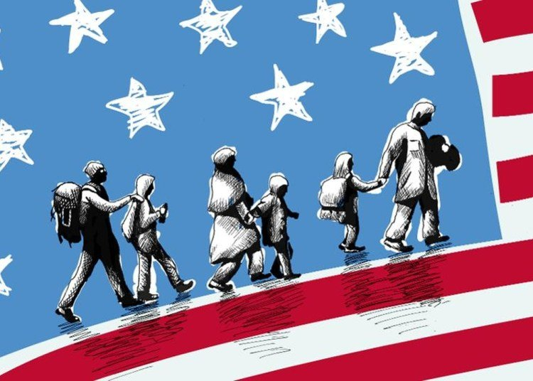 Illustration about the arrival of immigrants to the United States. | Forbes.com.