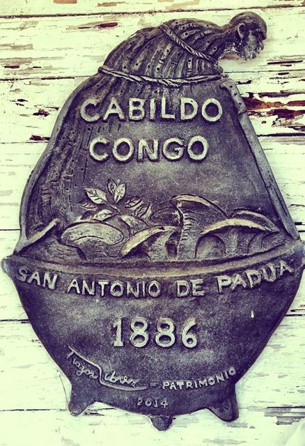 Tarja del Cabildo Congo. Foto: Caimán Barbudo.