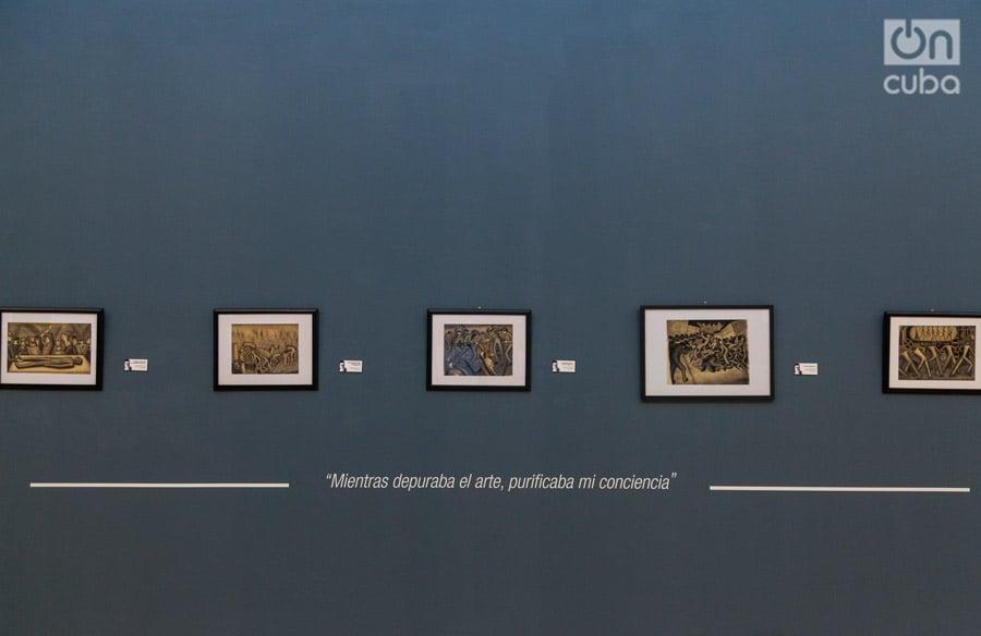 La muestra intenta abarcar toda la producción pictórica y dibujística de Pogolotti. Foto: Claudio Pelaez Sordo.