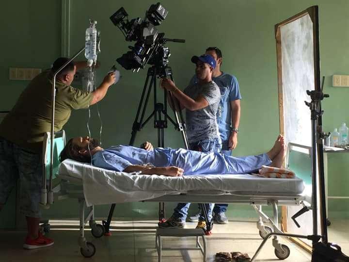 Rodaje del filme Havana Kyrie, con el actor italiano Franco Nero. Foto: RTV Comercial.