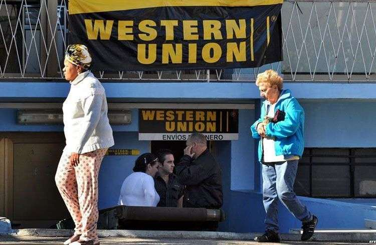 Oficina de la Western Union en Cuba.