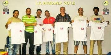Equipo cubano en el XVIII Mundial de Scrabble en Español