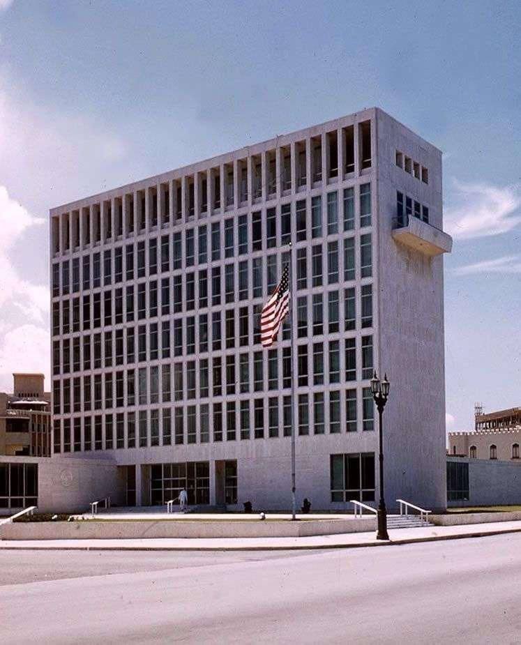 Embajada de Estados Unidos, La Habana, 1955 / Foto: Tomada de FleitasCubaCollection