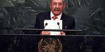 Raúl Castro, por primera vez en la ONU. Foto: AFP