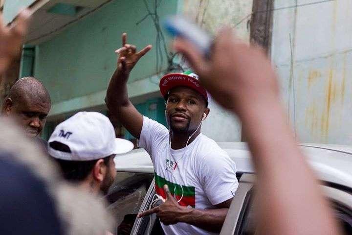 Floyd Mayweather en La Habana. Foto: Fernando Medina
