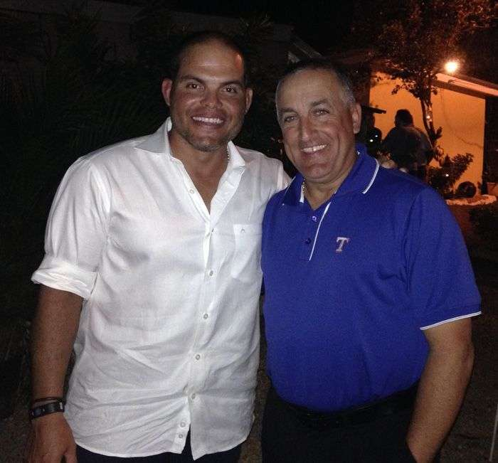 Con Iván Rodríguez
