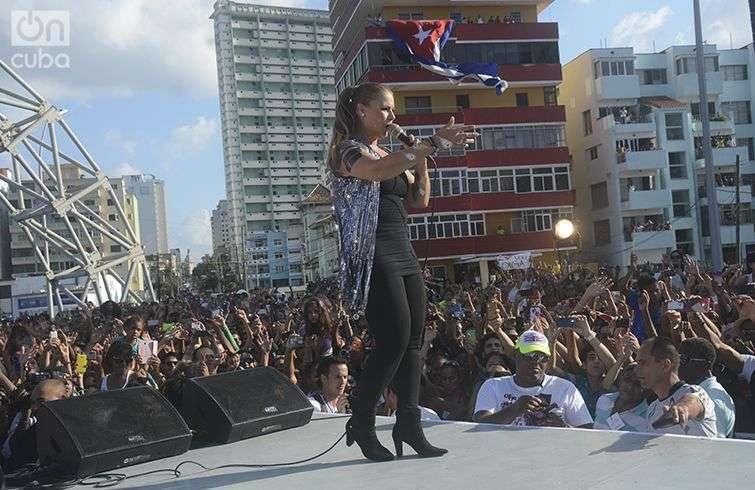 Olga Tañón en concierto en La Habana / Foto: Yailín Alfaro