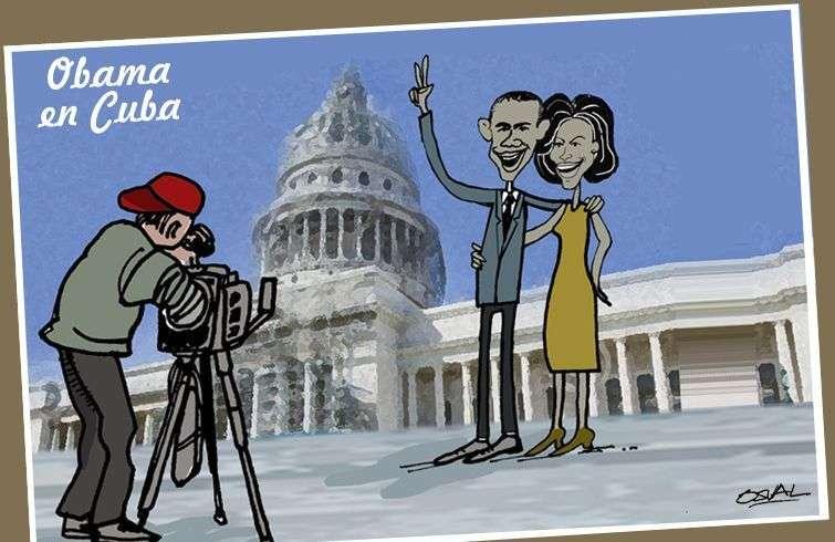 Obama y Michelle se hacen foto en el capitolio postal (1)