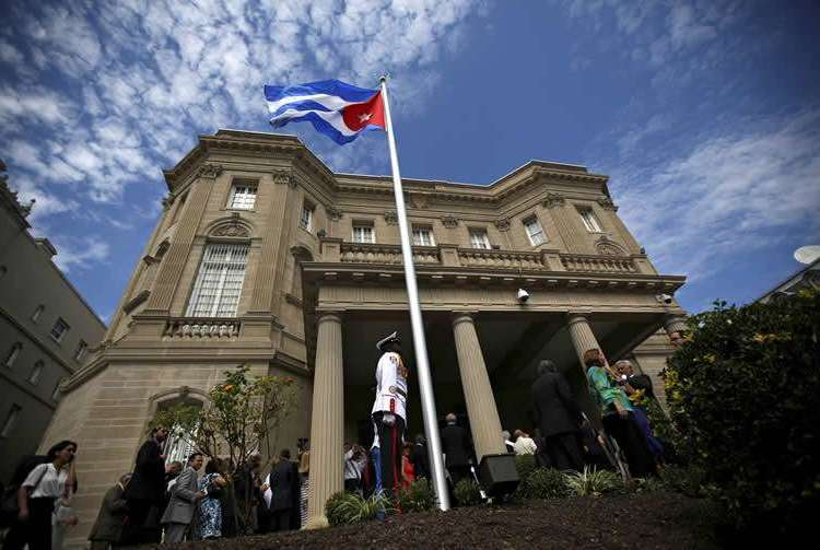 Sede diplomática de Cuba en Washington. Foto: Reuters.