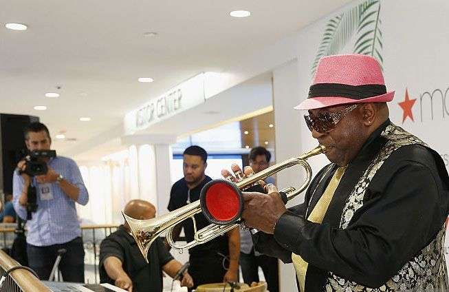 Joey Morant during the 2016 Harlem / Havana Music and Cultural Festival at Macy's Herald Square, New York. Photo: John Lamparski / Getty Images.
