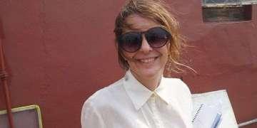 Patricia Ramos en una de la locaciones de azotea. Foto: Cortesía.