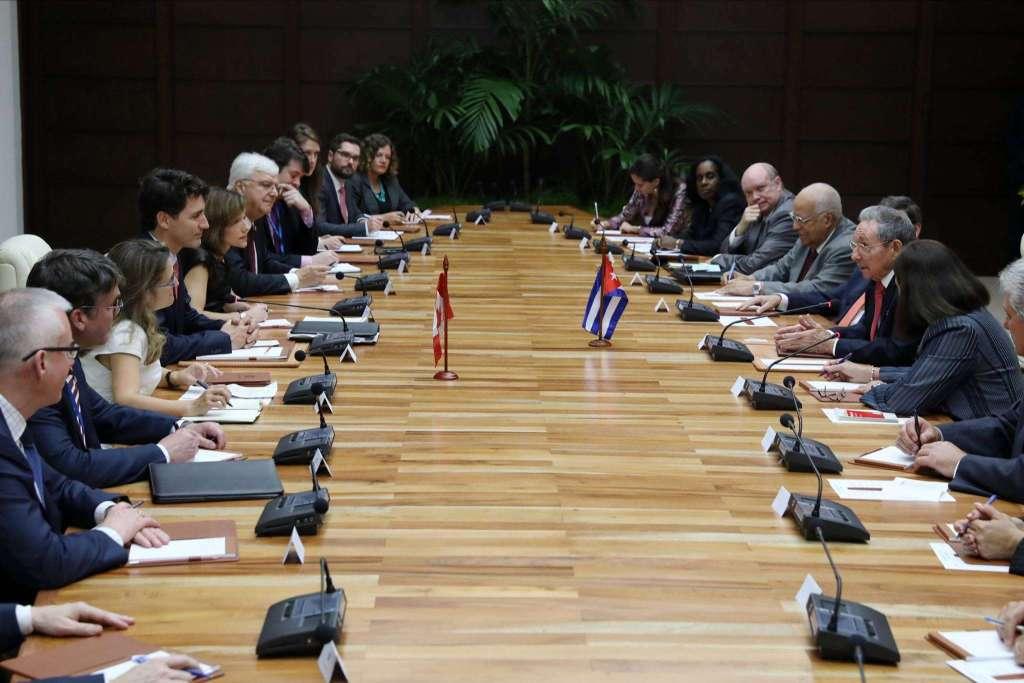 Visita oficial del primer ministro canadiense a Cuba. Foto: Justin Trudeau en Facebook.