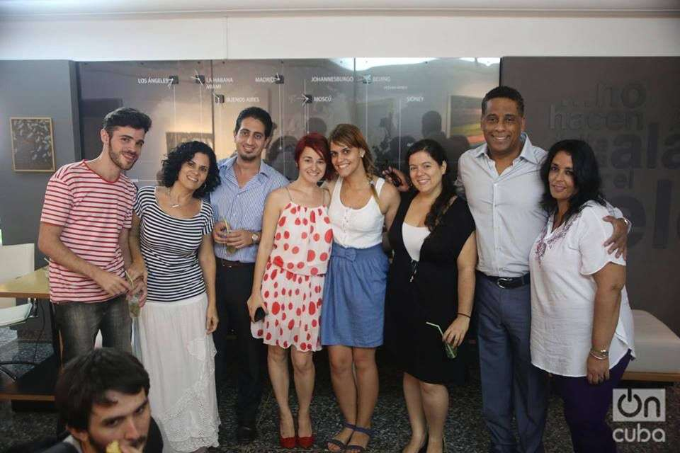 Cancio and some of the OnCuba Team in 2016