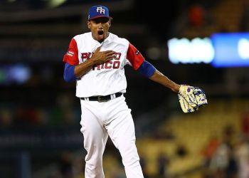 Puerto Rico repite en la final del Clásico. En la imagen, Edwin Díaz, el pitcher ganador. Foto: @WBCBaseball.