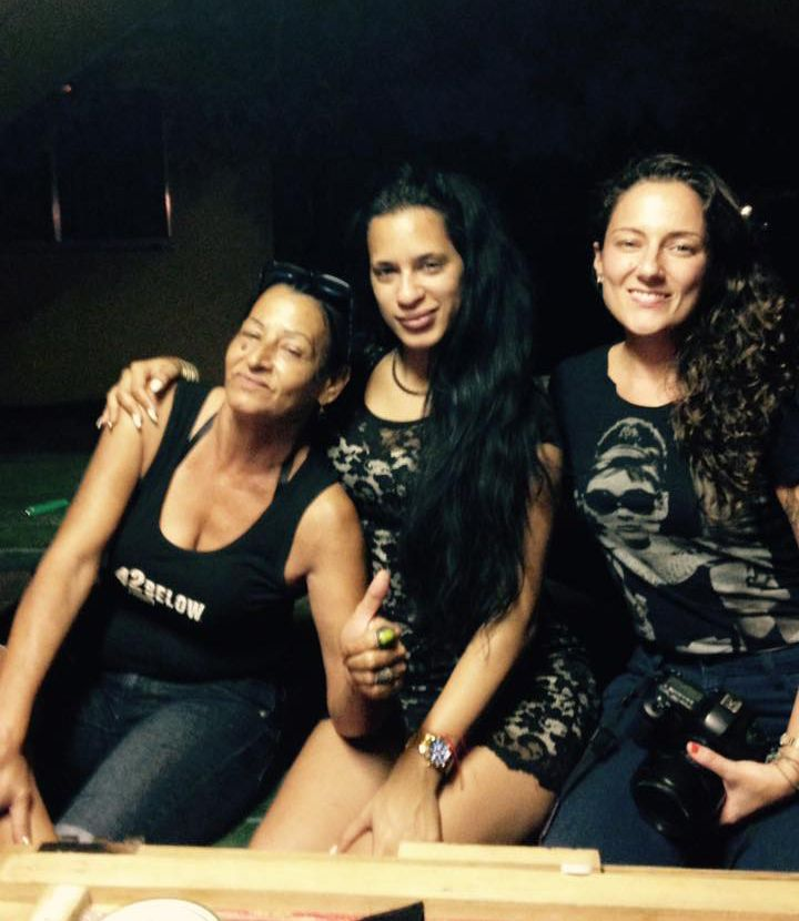 """The three musketeers together at last"": Liset Barrios on her Facebook page when publishing this photo in which Marta Amaro and Lisette Poole appear. September 2016."