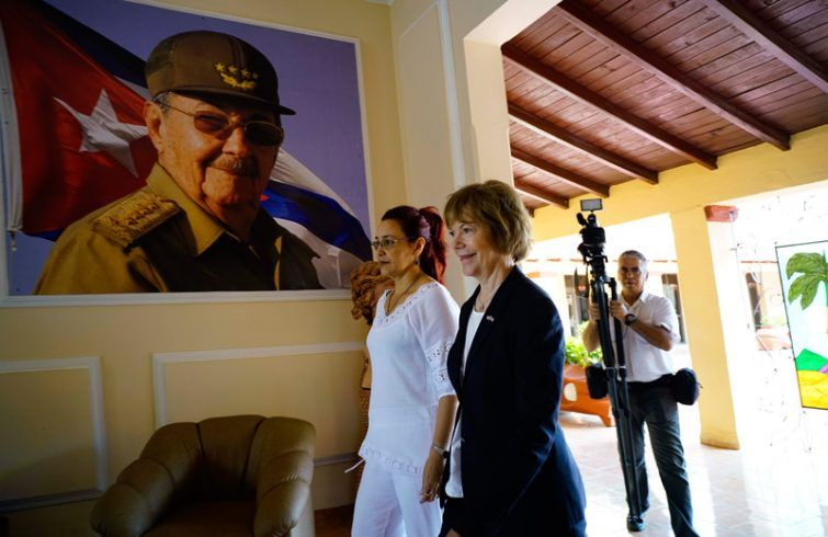 Smith held talks with Tamara Valido, president of People's Power of the Cuban province of Mayabeque.