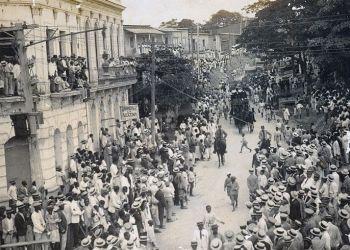 Cortejo fúnebre de Emilio Bacardí en Santiago de Cuba. Foto: Archivo de Ignacio Fernández Díaz.