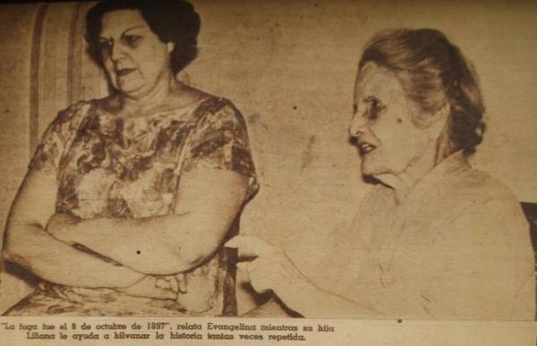 Evangelina´Cossio y su hija. Foto: baracuteycubano.blogspot.com,