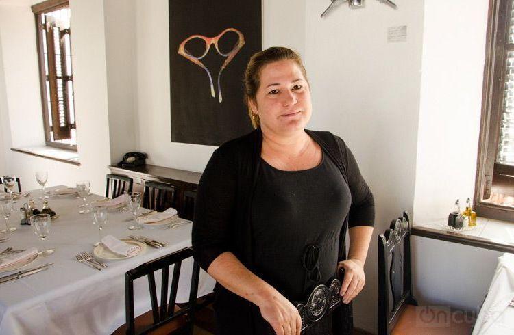 Niuris Higuera Martínez, propietaria de restaurante habanero Atelier. Foto: Alain L. Gutiérrez