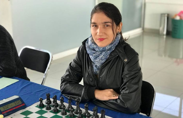 Lisandra Ordaz en un torneo en México. Foto: @lisychess / Facebook.