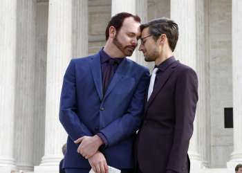 Charlie Craig y Dave Mullins. Foto: Jacquelyn Martin/AP.
