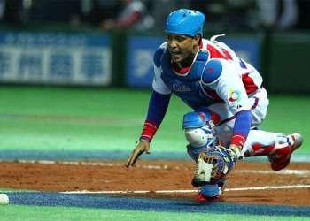 Frank Camilo Morejón fue de los mejores bateadores cubanos en el evento. Foto: @WBCBaseball.