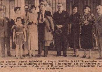 X Congreso Internacional de Historia de la Medicina en Madrid, septiembre de 1935. Recorte de prensa / Archivo familiar.