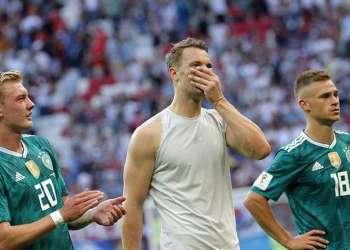 Los alemanes, campeones vigentes, quedaron golpeados anímicamente tras su derrota ante Corea del Sur que los eliminó de la Copa del Mundo Rusia 2018. Foto: Robert Ghement / EFE.