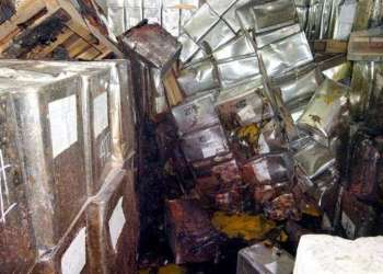 Foto del caos en los almacenes de La Conchita publicada por el diario Granma. Foto: Contraloría Provincial de Pinar del Río.