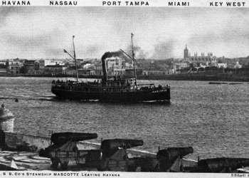 El vapor Mascotte, se construyó en 1885.