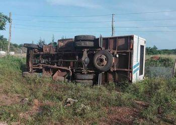 Accidente de tránsito en Cuba. Foto: Archivo.