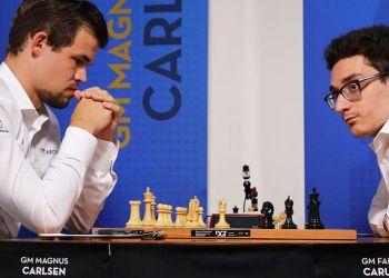 Magnus Carlsen y Fabiano Caruana buscarán el título mundial de ajedrez. Foto: Chess.com