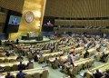 Sesión en la Asamblea General de la ONU donde se debatió la resolución cubana que pide el fin del embargo de EE.UU. contra Cuba el miércoles 31 de octubre de 2018, en la sede del organismo en Nueva York. Foto: Manuel Elias / ONU / EFE / Archivo.