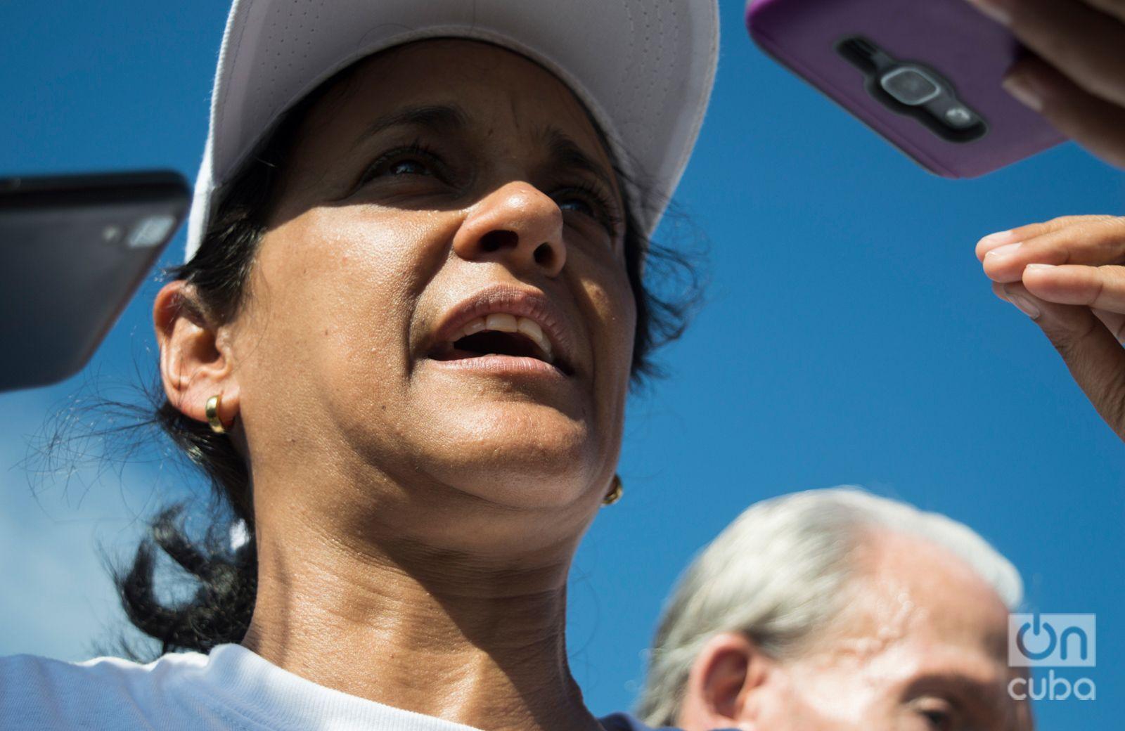 Nayvis Díaz, fundadora y directora de Vélo Cuba. Foto: Otmaro Rodríguez.