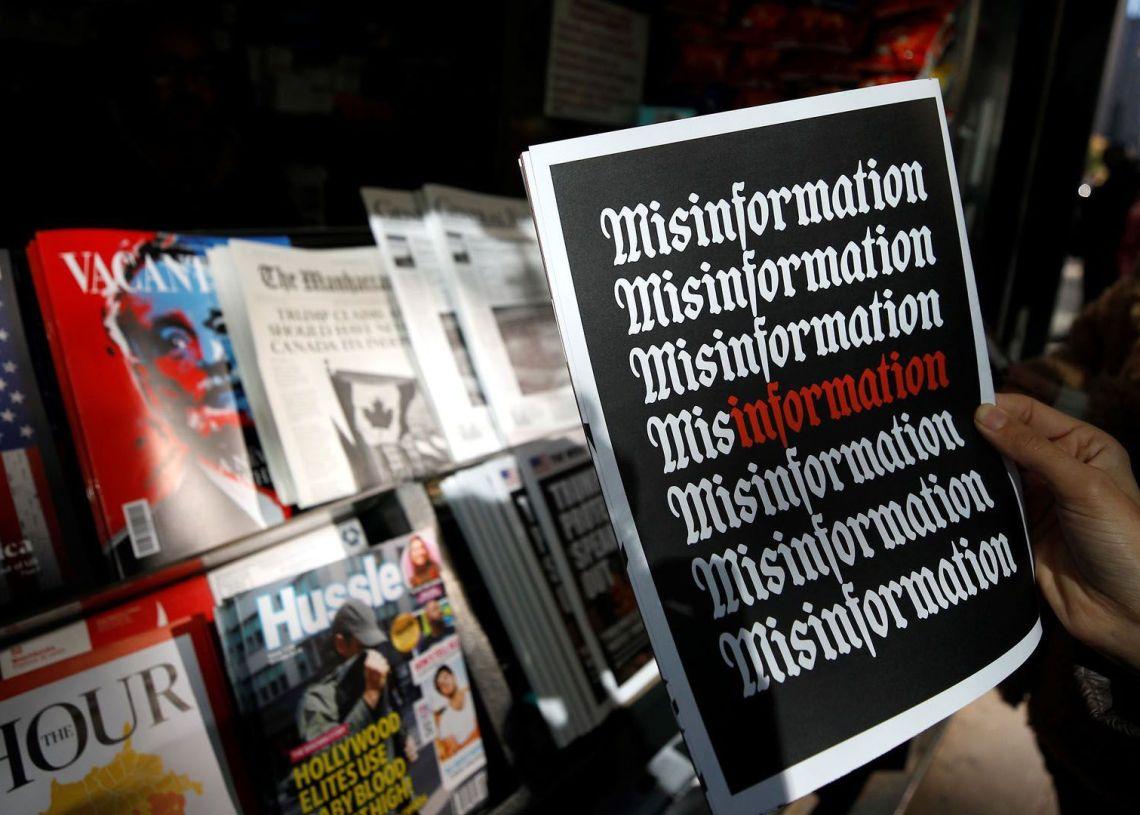 """""""Misinformation"""", palabra del año según el sitio Dictionary.com. Foto: axios.com"""